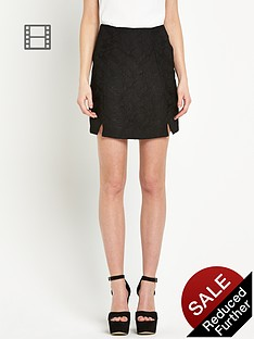 river-island-jacquard-split-front-mini-skirt