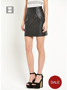 river-island-black-pu-mini-skirt