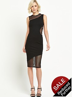 river-island-curved-seam-sheer-detail-pencil-dress