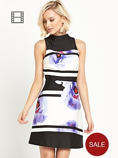 river-island-stripe-high-neck-a-line-dress