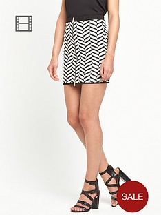 river-island-chevron-jersey-zip-front-mini-skirt