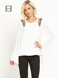 river-island-embellished-shoulder-cape-top