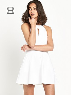 river-island-90s-neck-aline-white-dress