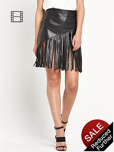 river-island-fringed-pu-mini-skirt
