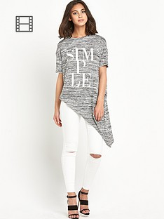 river-island-simple-printed-asymmetric-top
