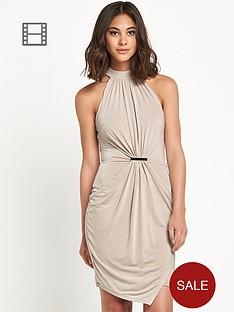 river-island-champagne-drape-bodycon-dress