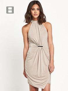 river-island-champagne-drape-bodycon-dress