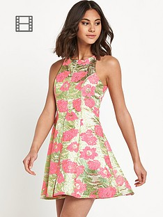 river-island-jacquard-fit-and-flare-dress