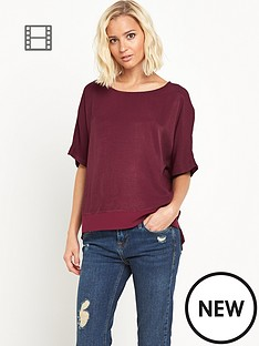 river-island-oxblood-oversized-tee