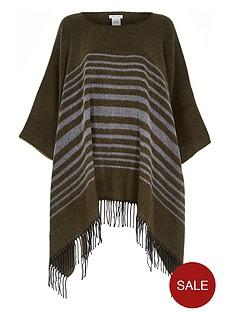 river-island-stripe-blanket-poncho