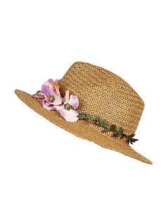 river-island-floral-trim-fedora-hat