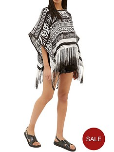 river-island-animal-print-poncho-black-print
