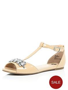 river-island-peep-toe-embellished-t-bar-ballerina-shoes