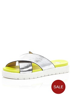 river-island-cross-strap-footbed-sandals