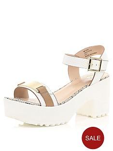 river-island-portie-gold-trim-sandals