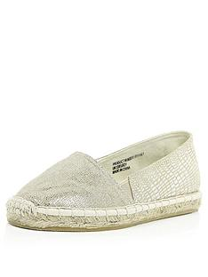 river-island-girls-metallic-espadrilles