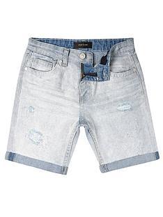 river-island-ripped-denim-shorts