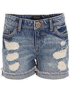river-island-girls-extreme-rripped-amelie-denim-shorts