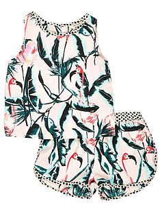 river-island-mini-girls-flamingo-vest-and-shorts-set-2-piece-0-months-3-years