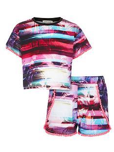 river-island-girls-sunset-paradise-pom-pom-shorts-set-2-piece