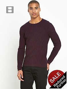 river-island-red-ribbed-long-sleeve-crew-neck-jumper