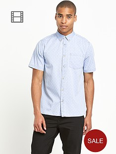 river-island-mens-mini-triangle-print-denim-shirt