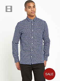 river-island-mens-long-sleeve-basket-weave-check-shirt
