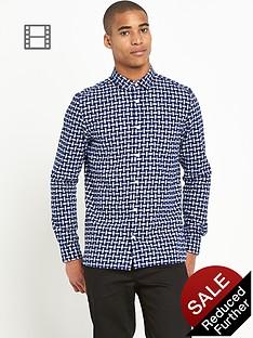 river-island-mens-long-sleeve-basket-weave-check-shirt
