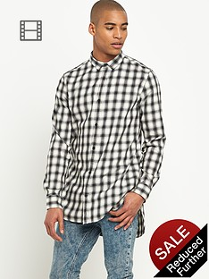river-island-mens-ecru-longer-length-check-shirt