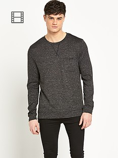 river-island-mens-slub-fabric-lightweight-sweater