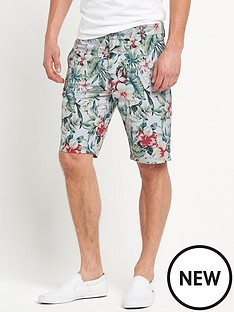 river-island-mens-oxford-belted-floral-shorts
