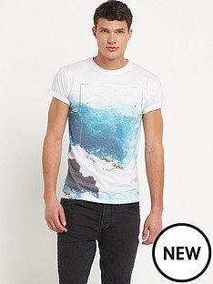 river-island-mens-short-sleeve-foil-print-tee