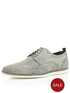 river-island-raven-wedge-brogue-white-sole-shoes