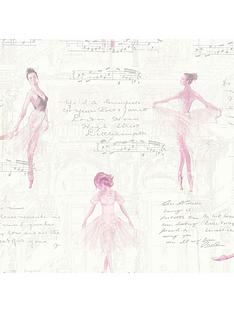 arthouse-pirouette-pink-wallpaper