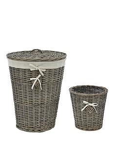 heart-motif-laundry-hamper-amp-bin-set