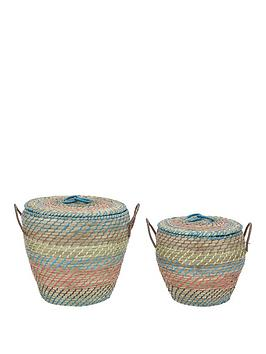 set-of-2-lidded-straw-baskets