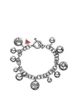 guess-rhodium-plated-multi-beaded-charm-bracelet