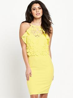 lipsy-ruffle-lace-bodycon