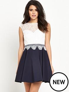 lipsy-hush-violet-lace-skater-dress