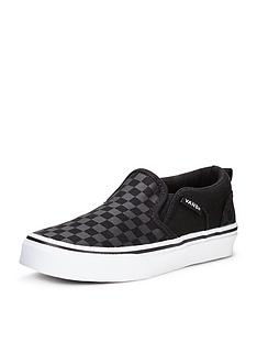 vans-asher-slip-on-checkerboard-children