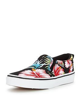 Vans Vans Asher SlipOn Tropical Floral Children