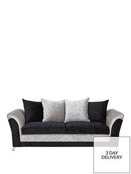 Zulu 3-Seater Fabric Sofa