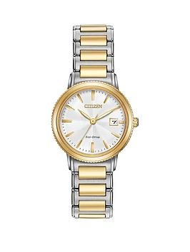 citizen-citizen-eco-drive-silhouette-white-dial-two-tone-stainless-steel-bracelet-ladies-watch