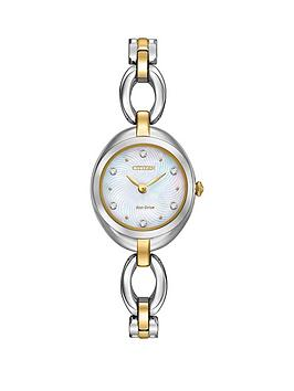 citizen-citizen-eco-drive-silhouette-crystal-mother-of-pearl-dial-two-tone-stainless-steel-bracelet-ladies-w