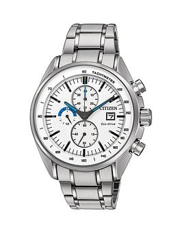 citizen-citizen-eco-drive-white-dial-chronograph-stainless-steel-bracelet-mens-watch