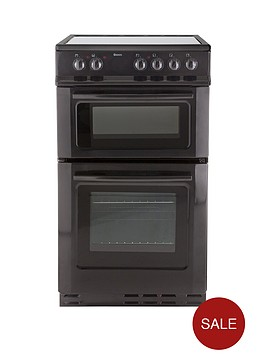 swan-sx2021b-50cm-wide-ceramic-twin-cavity-freestanding-electric-cooker-black