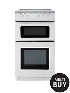 swan-sx2021w-50cm-wide-ceramic-twin-cavity-freestanding-electric-cooker-white