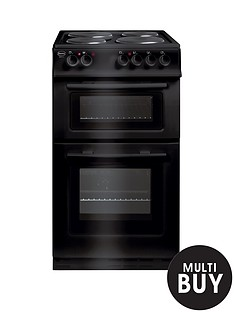 swan-sx2011b-50cm-wide-freestanding-twin-cavity-electric-cooker-black