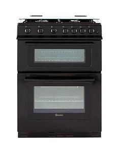 swan-sx2061b-60cm-wide-freestanding-gas-double-oven-cooker-black