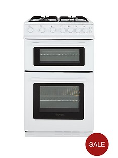 swan-sx2071w-50cm-wide-freestanding-twin-cavity-gas-cooker-white